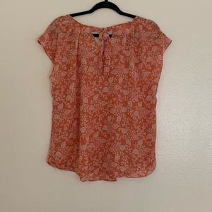 LC Lauren Conrad Tops - LC Lauren Conrad | Lace Trim Tee | Orange | XL